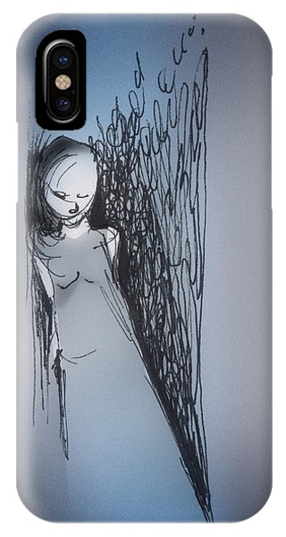 IPhone Case featuring the drawing Doorway by Keith A Link