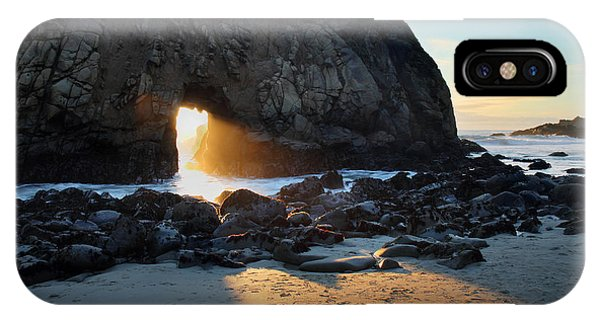 IPhone Case featuring the photograph Doorway To Heaven In Big Sur by Pierre Leclerc Photography