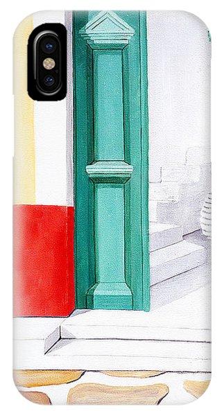 Doorway To Mykonos - Prints Of Original Oil Painting IPhone Case