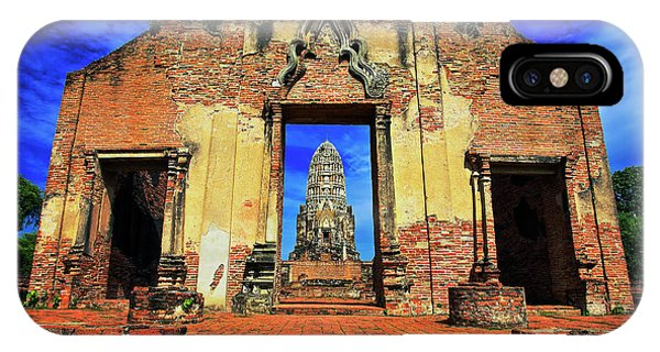 Doorway To Wat Ratburana In Ayutthaya, Thailand IPhone Case