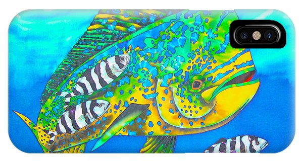Dorado And Pilot Fish - Mahi Mahi Fish IPhone Case