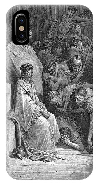 Laughing Jesus iPhone Case - Christ Mocked by Gustave Dore