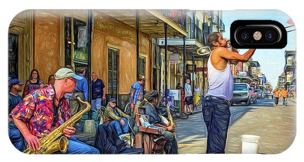 Steve Harrington iPhone Case - Doreen's Jazz New Orleans - Paint by Steve Harrington