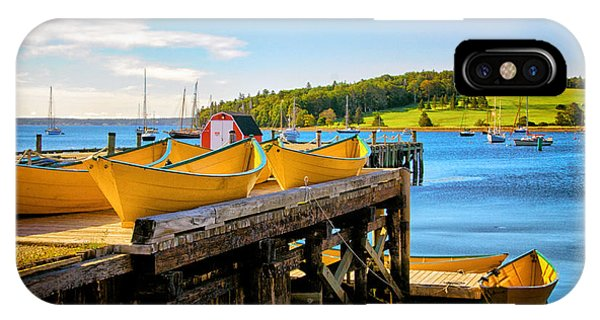 Dories On The Dock IPhone Case