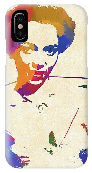 Apollo Theater iPhone Case - Dorothy Dandridge Watercolor by Dan Sproul