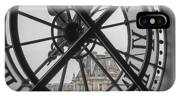 Louvre iPhone Case - D'orsay Clock Paris by Joan Carroll