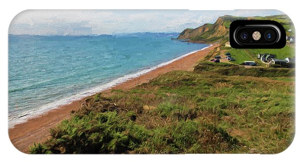 Dorset iPhone Case - Dorset Jurassic Coast Beach Eype England Uk Small Village South Of Bridport View To The East by Michael Charles