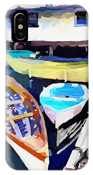 Dory Dock At Beacon Marine Basin - East Gloucester, Ma IPhone Case