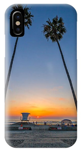 Palm Tree iPhone X Case - Dos Palms by Peter Tellone