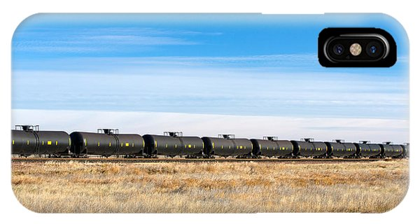 Flammable iPhone Case - Dot-111 Tank Cars by Todd Klassy