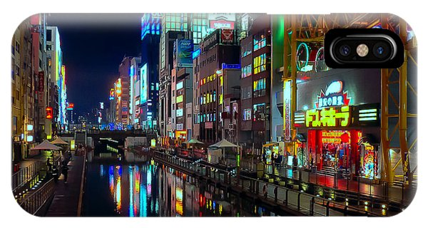 Dotonbori-gawa Canal At Night IPhone Case