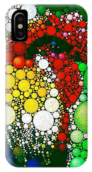 IPhone Case featuring the digital art Dotty Doodle Doo by Mark Taylor