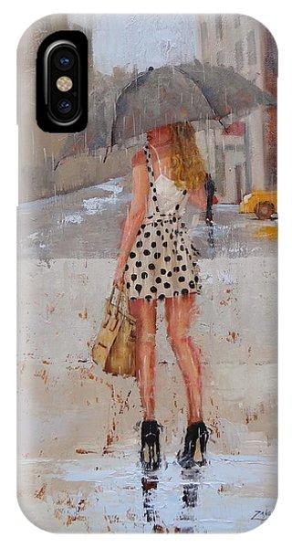 Umbrella iPhone Case - Dottie by Laura Lee Zanghetti