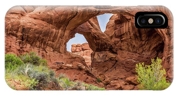 Double Arches, Arches National Park IPhone Case