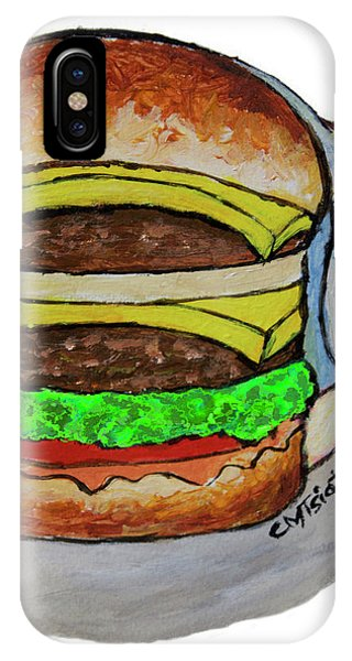 Double Cheeseburger IPhone Case