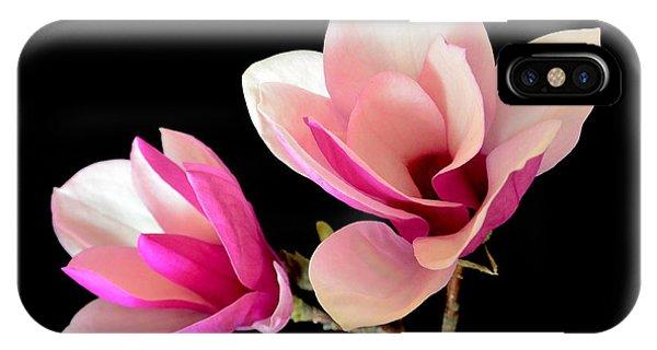 Double Magnolia Blooms IPhone Case
