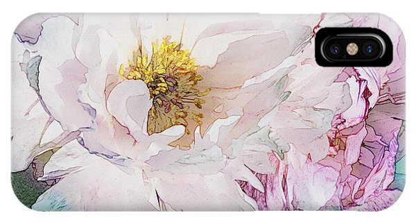 Double Peony IPhone Case