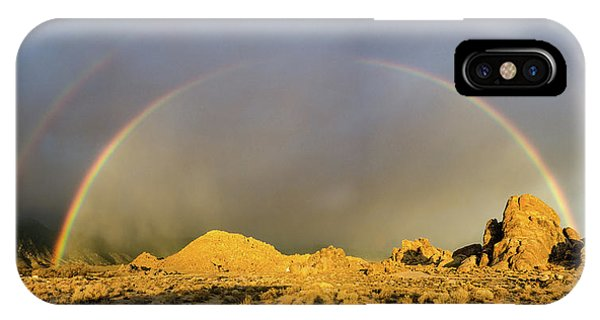 Double Rainbow Gold IPhone Case