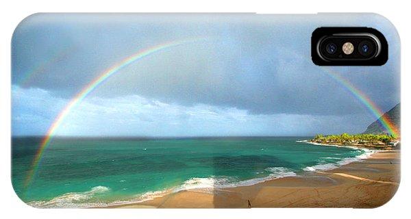 Double Rainbow Over Turtle Beach IPhone Case