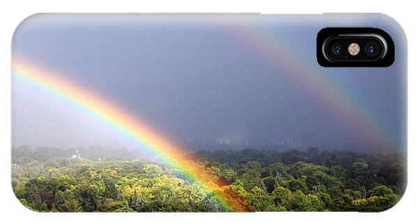 Double Rainbows IPhone Case