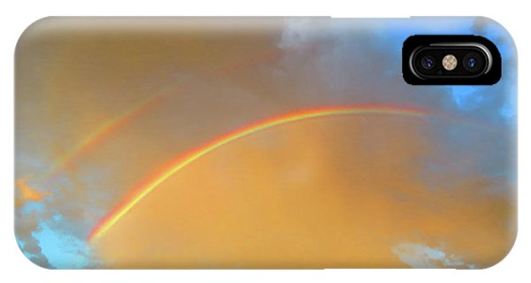 Double Rainbows In The Desert IPhone Case