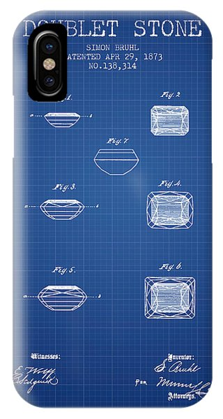 Doublet Stone Patent From 1873 - Blueprint IPhone Case