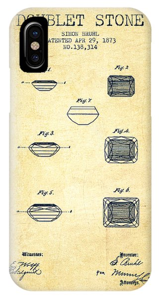 Doublet Stone Patent From 1873 - Vintage IPhone Case