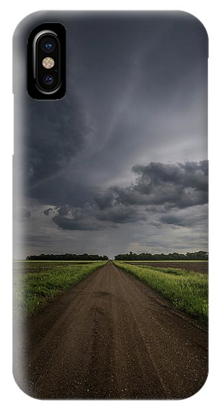 Middle Of Nowhere iPhone Case - Down A Little Dirt Road  by Aaron J Groen