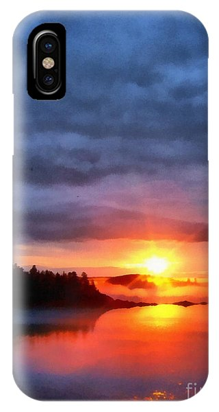 Down East Sunset Maine IPhone Case
