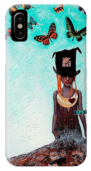 Alice In Wonderland iPhone Case - Down The Rabbit Hole by Sharon Cummings