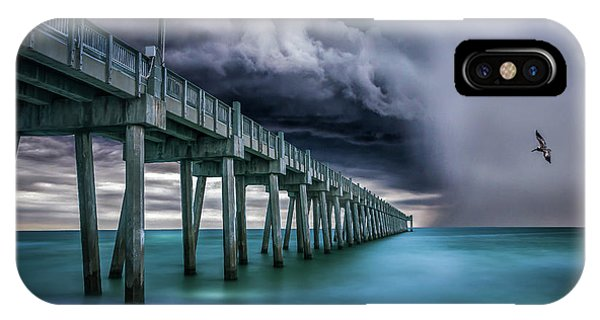 Downpour- Pensacola Beach Phone Case by Brent Shavnore