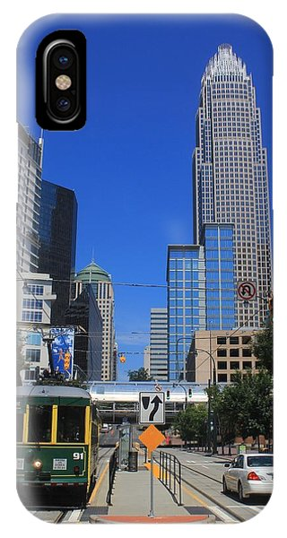 Downtown Charlotte Trolley 1  IPhone Case