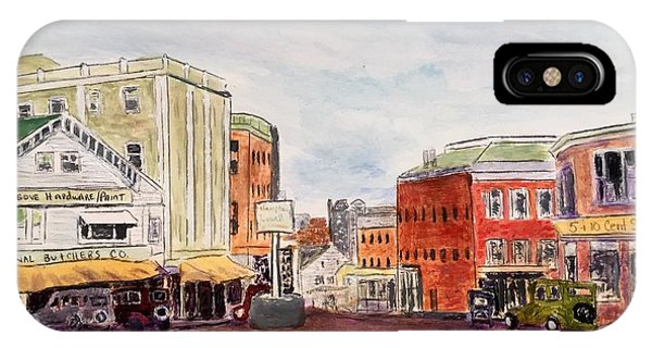 Downtown Amesbury Ma Circa 1920 IPhone Case