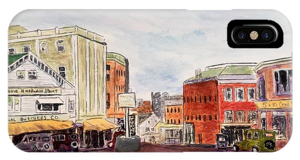 Downtown Amesbury Ma Circa 1920 IPhone Case