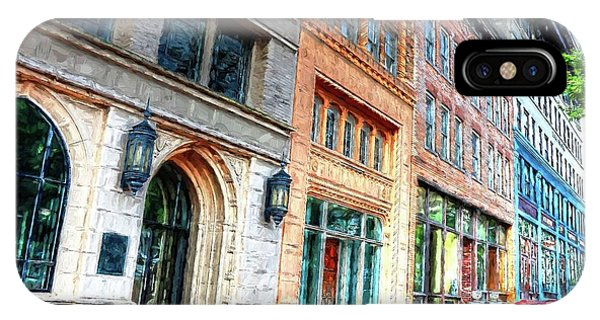 Downtown Asheville City Street Scene II Painted IPhone Case