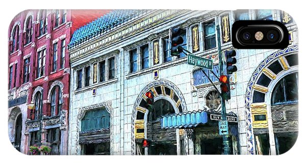 Downtown Asheville City Street Scene Painted  IPhone Case