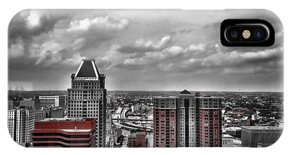 Downtown Baltimore City IPhone Case