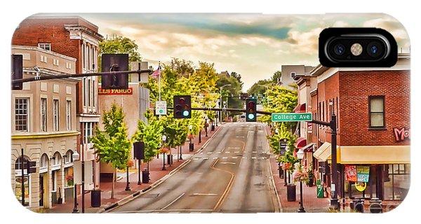 Downtown Blacksburg IPhone Case