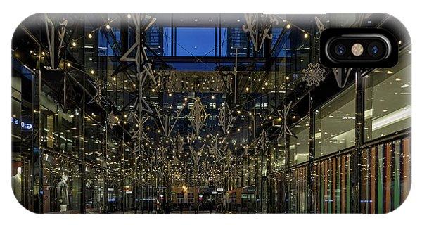 Downtown Christmas Decorations - Washington IPhone Case