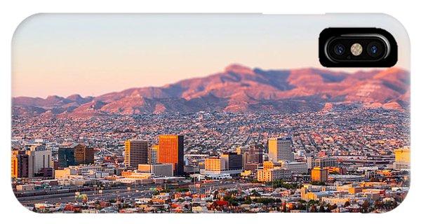 Downtown El Paso Sunrise IPhone Case