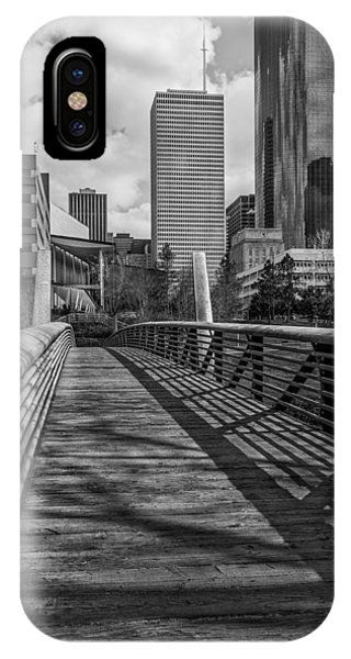 Downtown Entrance - Bw View IPhone Case