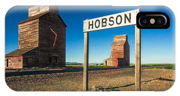 Silo iPhone Case - Downtown Hobson, Montana by Todd Klassy
