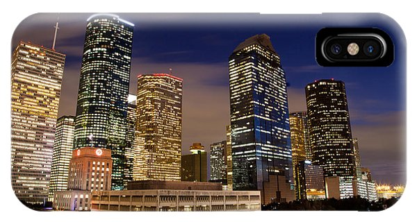 Downtown Houston At Night IPhone Case