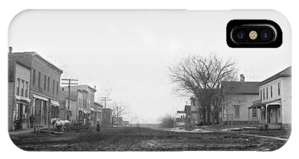 Downtown iPhone Case - Downtown Hudson Iowa by Greg Joens