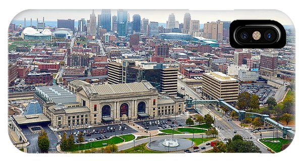 Downtown Kansas City From Liberty Memorial Tower IPhone Case