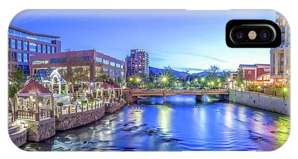 Downtown Reno Summer Twilight IPhone Case