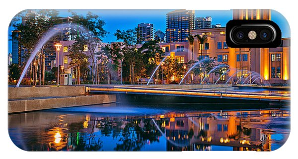 Downtown San Diego Waterfront Park IPhone Case