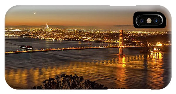 Downtown San Francisco And Golden Gate Bridge Just Before Sunris IPhone Case