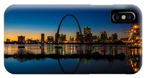 IPhone Case featuring the photograph Downtown St. Louis And The Gateway Arch by Matthew Chapman