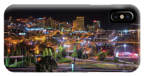 Downtown Tacoma Night IPhone Case